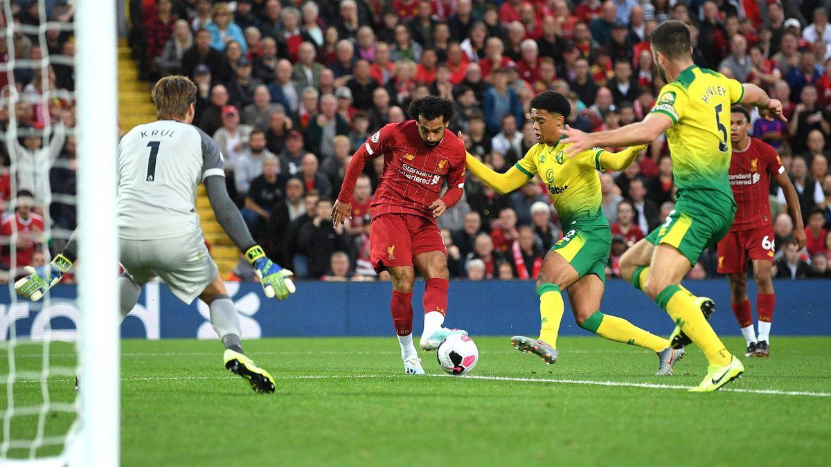 Mohamed Salah - Liverpool-Norwich Premier League 2019-20