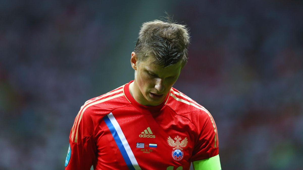 Андрей Аршавин на матче Евро-2012 Россия – Греция