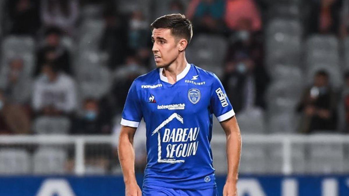 Dylan Chambost lors de Auxerre - Troyes en Ligue 2 le 21 septembre 2020