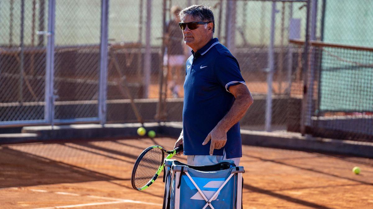 Toni Nadal, à l'entraînement