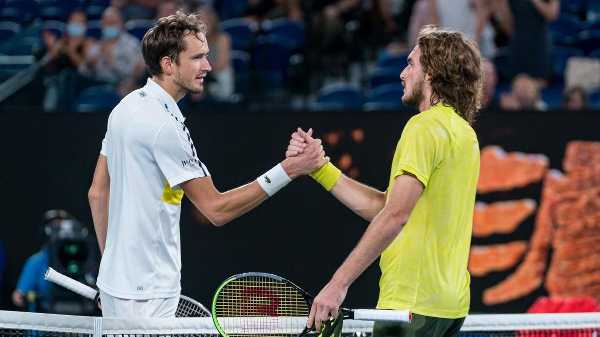 Даниил Медведев и Стефанос Циципас в полуфинале Australian Open-2021