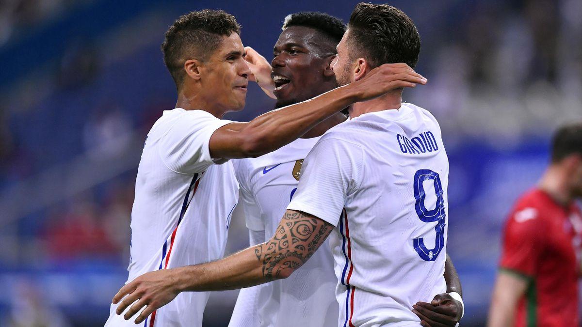 Raphael Varane, Paul Pogba, Olivier Giroud - France