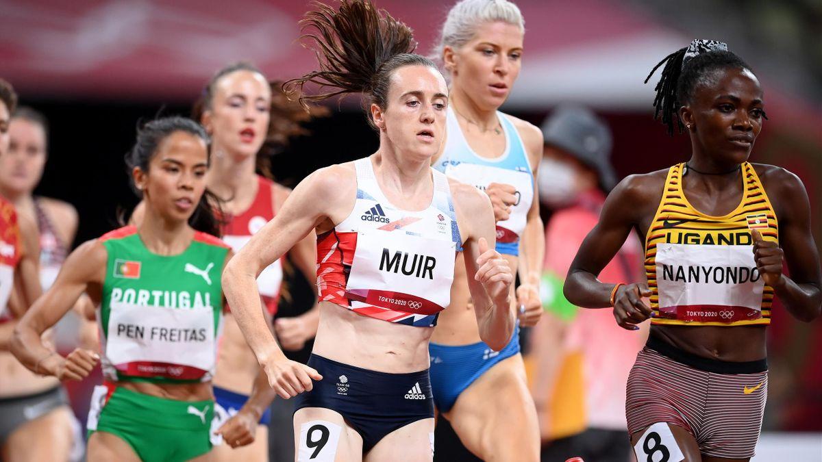 Britain's Laura Muir looked comfortable in her 1500m semi-final