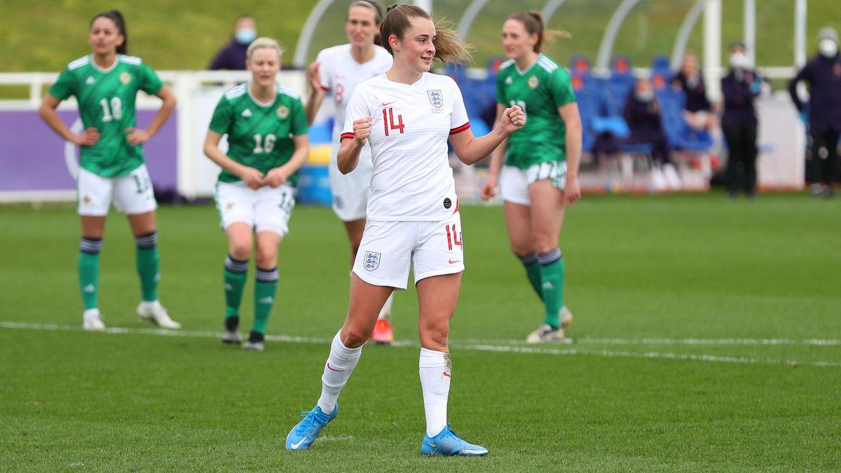 Ella Toone scored on her England debut against Northern Ireland