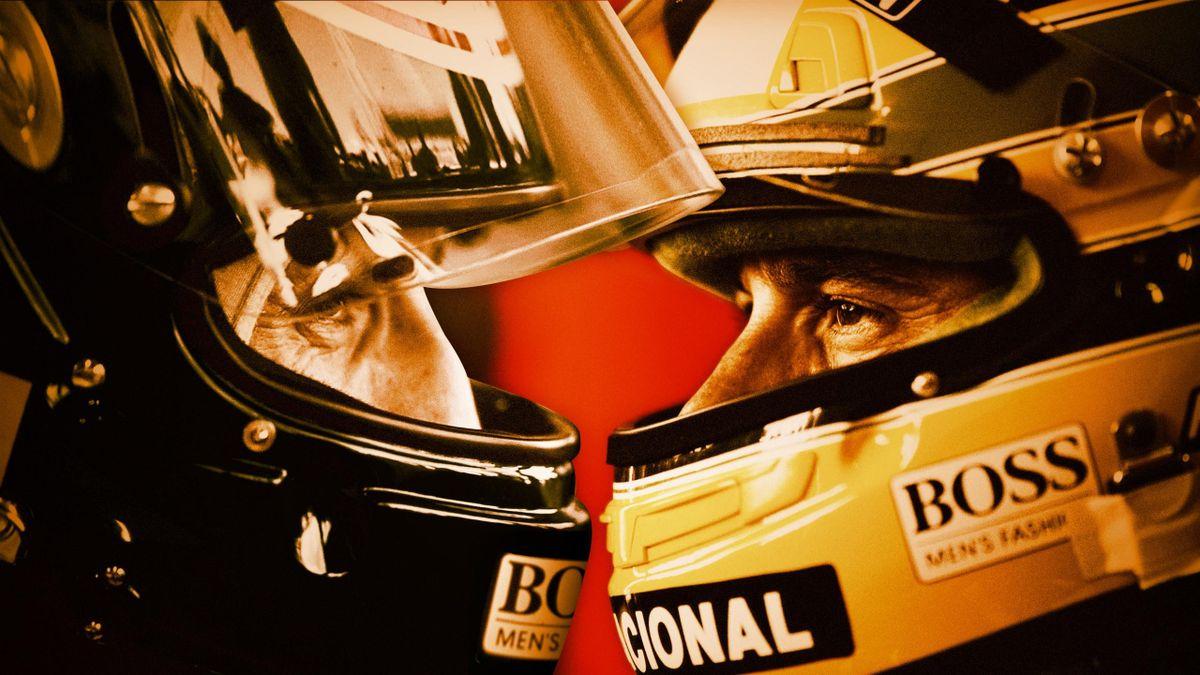 Ayrton Senna et Alain Prost