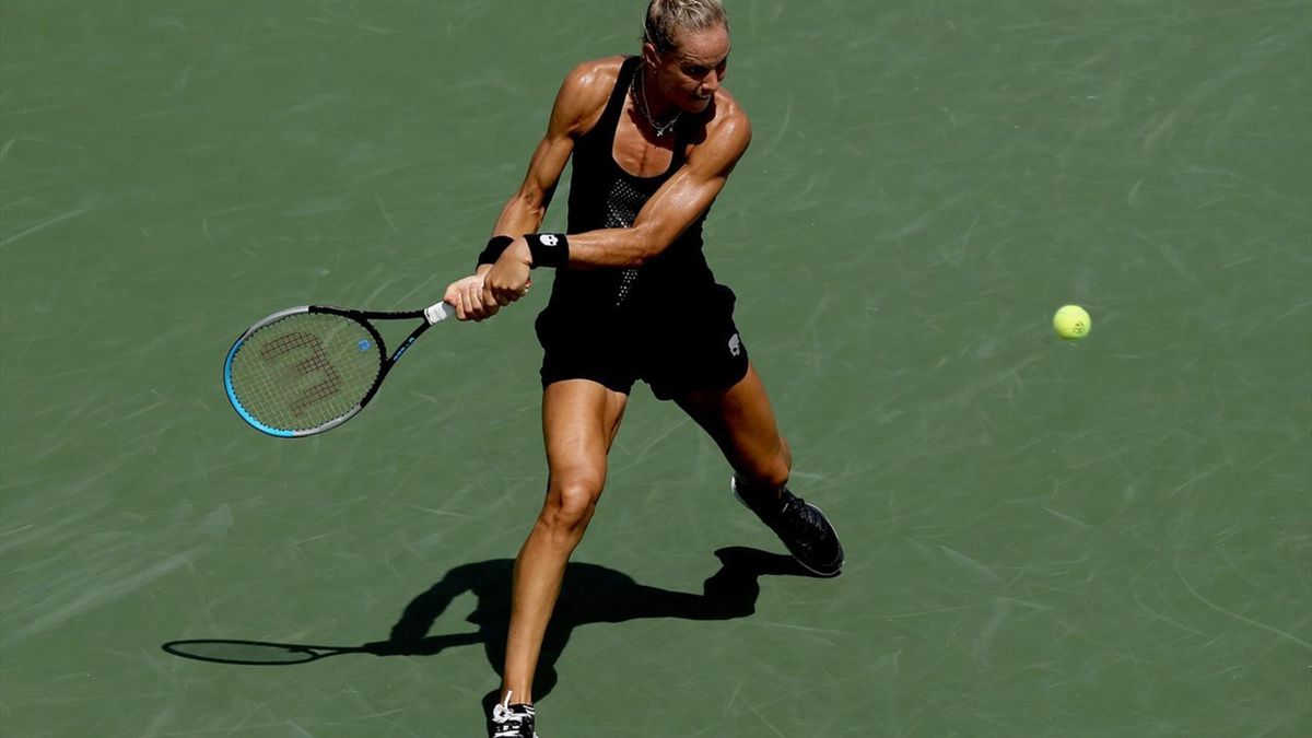 Rus tijdens het WTA-toernooi van Cincinnati