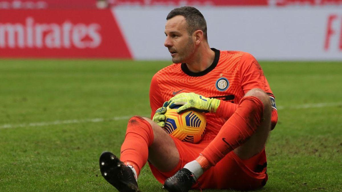 Samir Handanovic, portiere e capitano dell'Inter - Serie A 2020-21