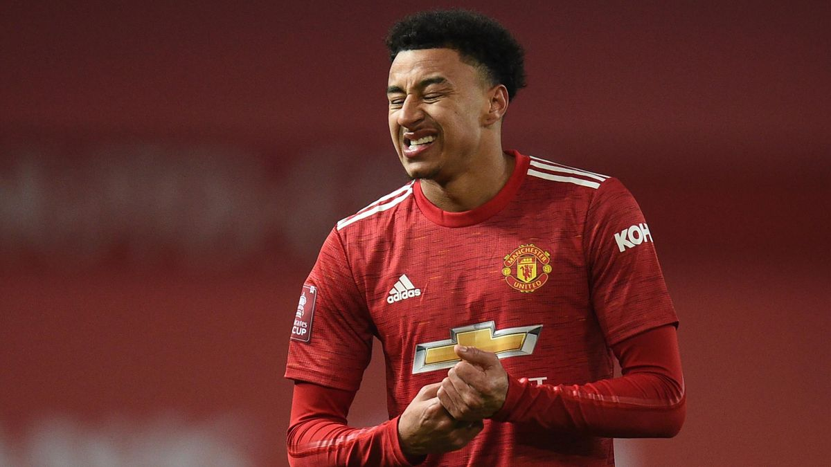 Manchester United's English midfielder Jesse Lingard gestures during the English FA Cup third round football match between Manchester United and Watford at Old Trafford in Manchester, north west England