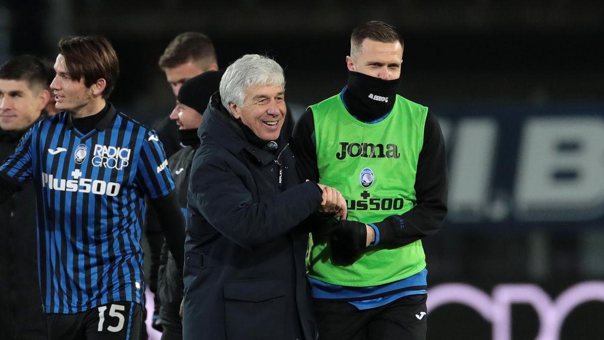 Gian Piero Gasperini insieme a Josip Ilicic, Atalanta, Getty Images