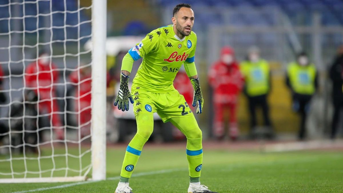 David Ospina durante Roma-Napoli - Serie A 2020/2021 - Getty Images
