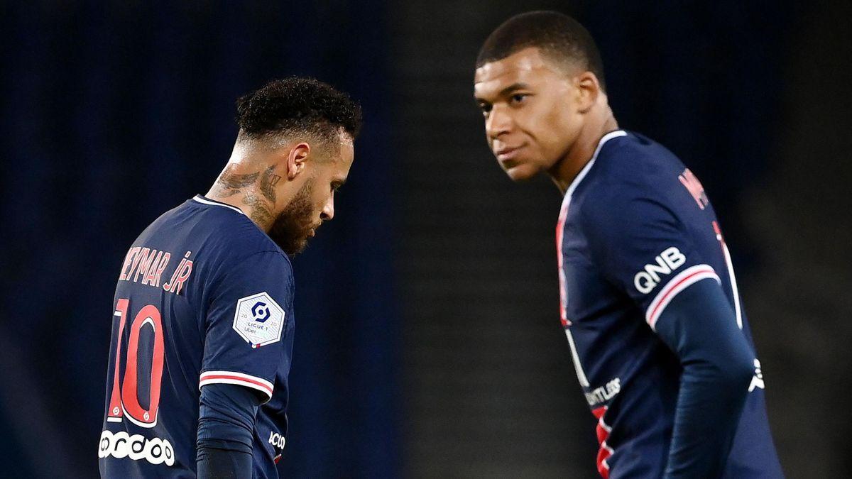 Neymar et Kylian Mbappé, les deux stars du PSG