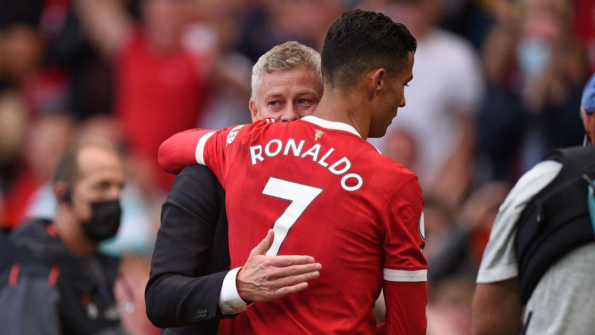 Ole Gunnar Solskjaer i Cristiano Ronaldo