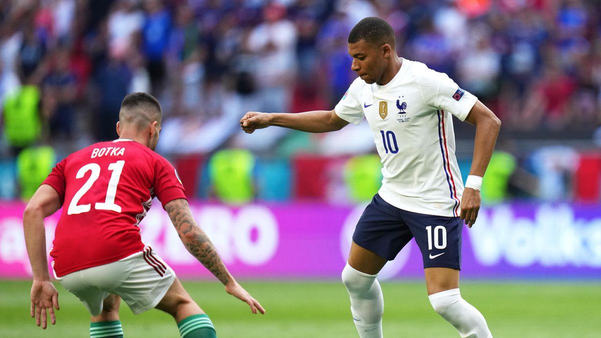 Kylian Mbappé im EM-Spiel gegen Ungarn