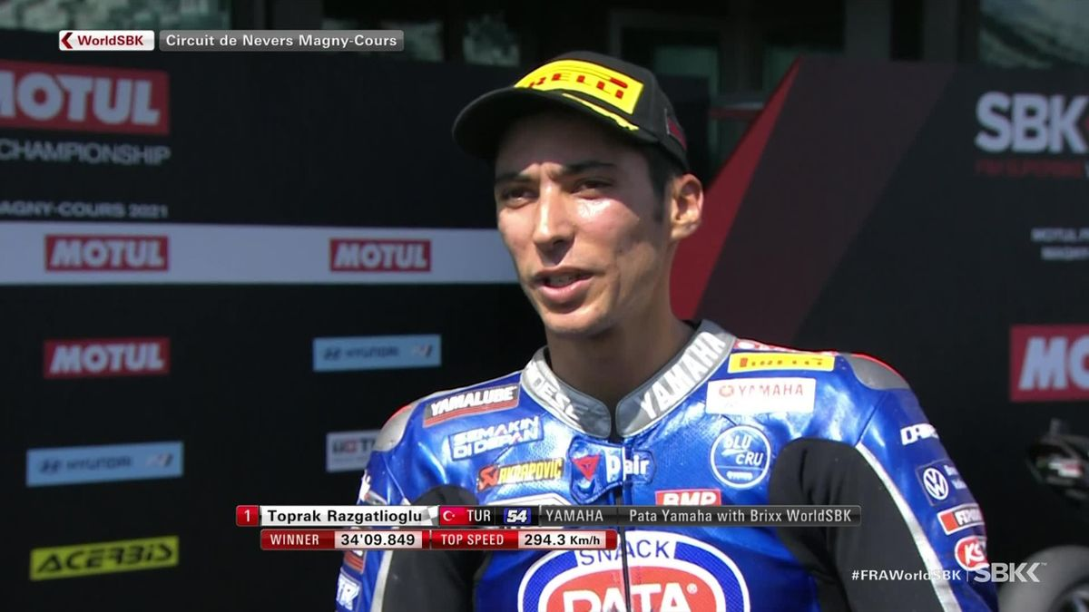 Superbikes France - Race  2 - Interview winner Toprak Razgatlioglu