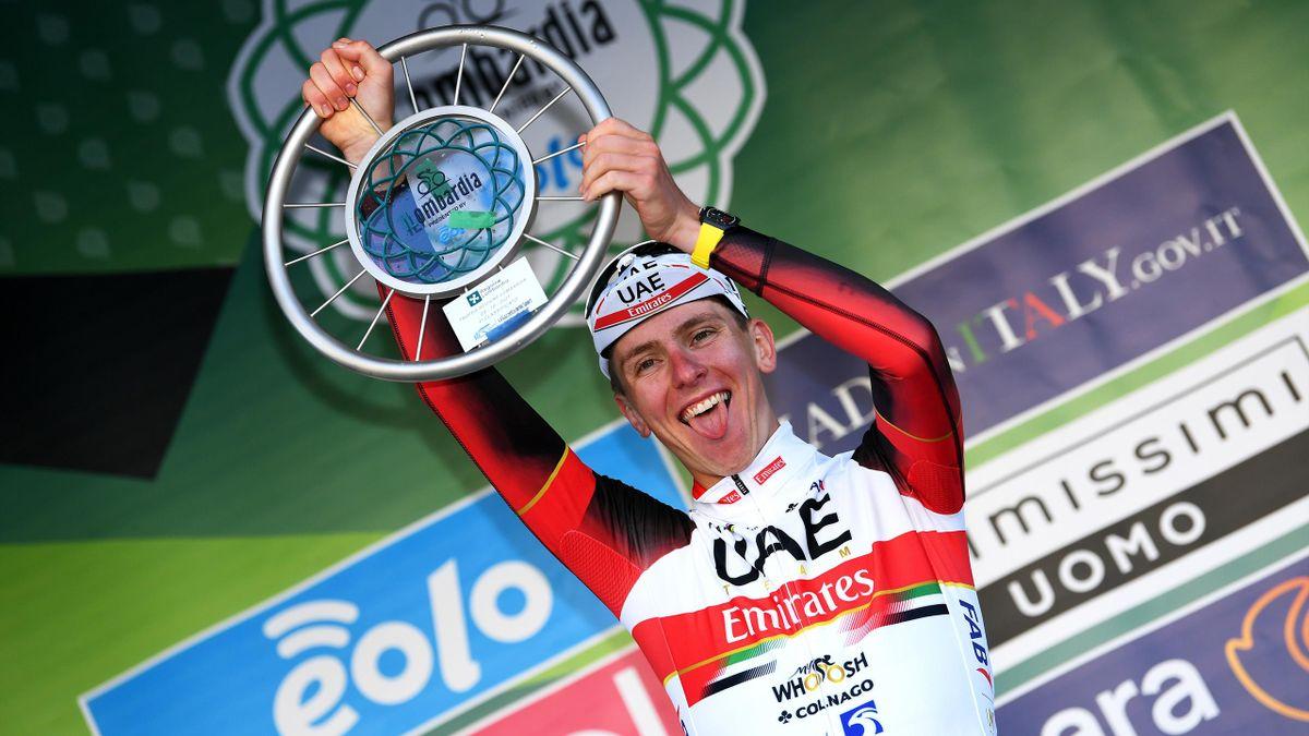Tadej Pogacar, vainqueur du Tour de Lombardie