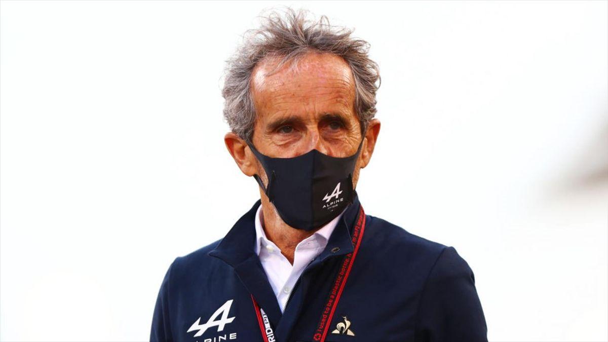 Alain Prost (Alpine) au Grand Prix de Bahreïn 2021