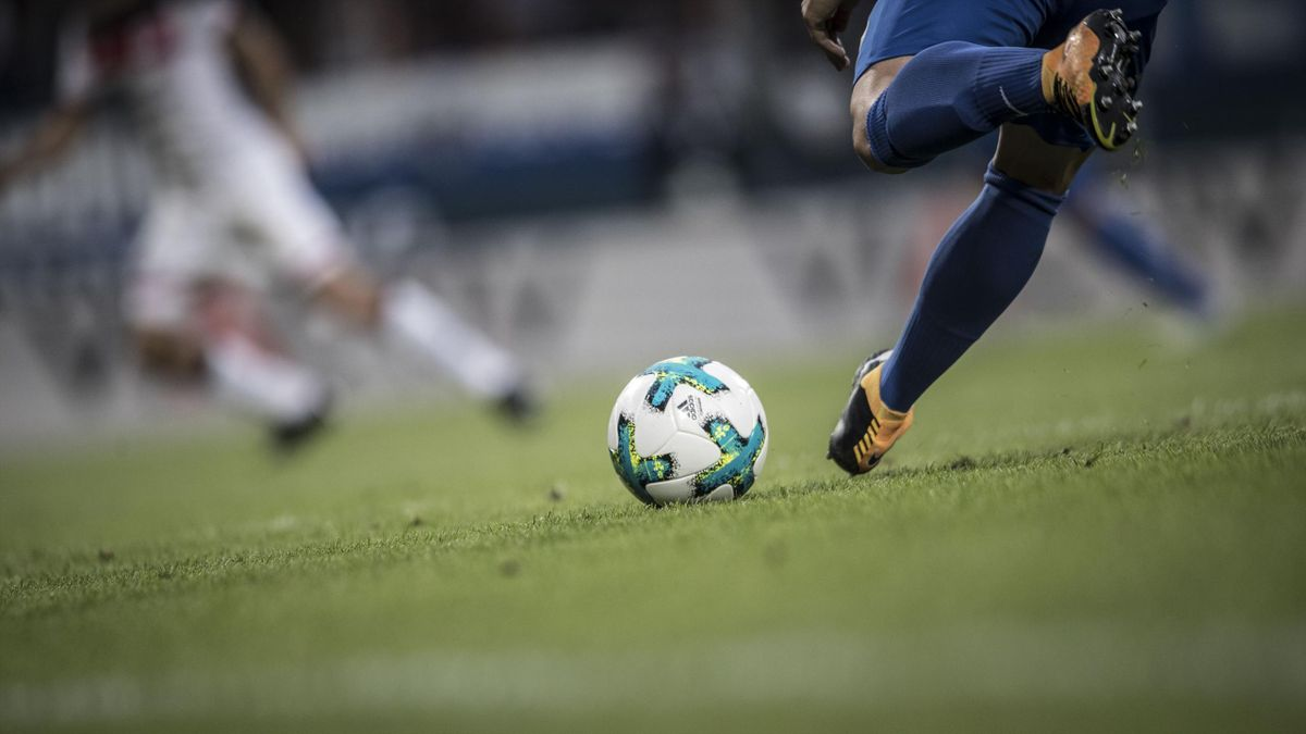 The official adidas matchball Torfabrik during the Second Bundesliga match between VfL Bochum 1848 and FC St. Pauli