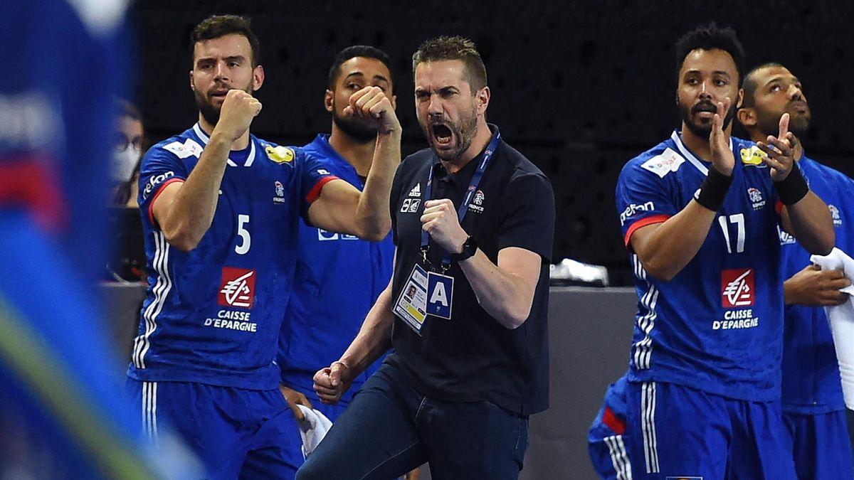 Guillaume Gille et l'équipe de France