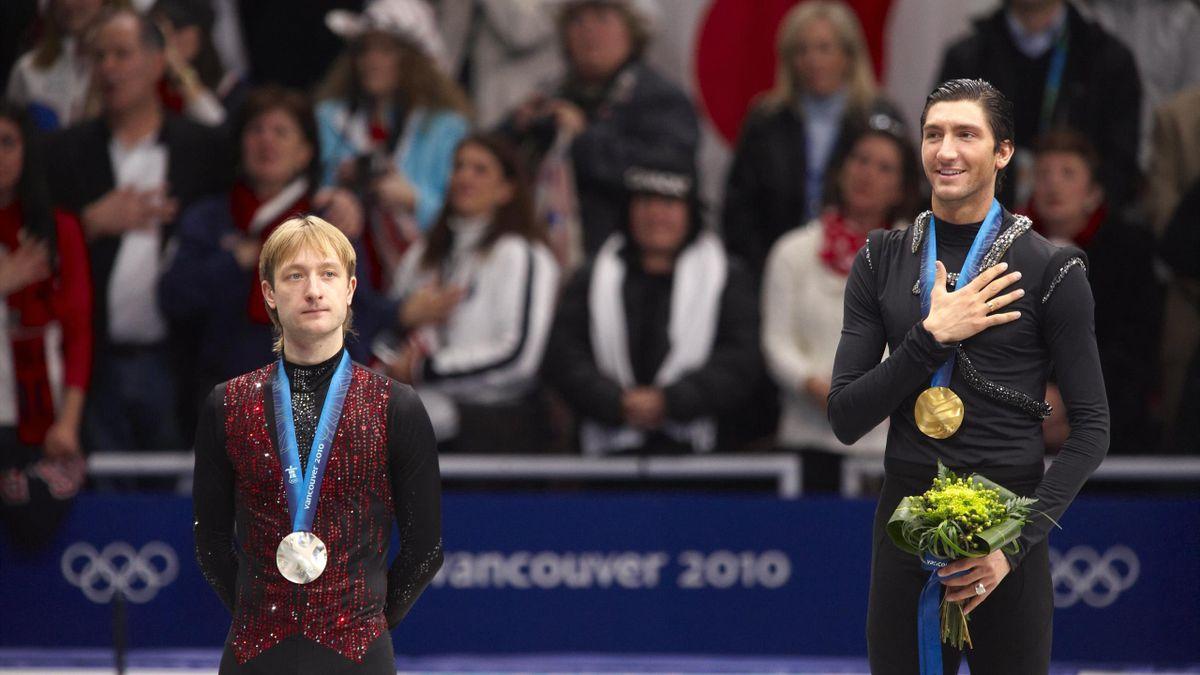 Евгений Плющенко и Эван Лайсачек