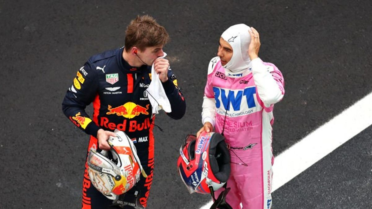 Max Verstappen (Red Bull), Sergio Pérez (Racing Point) - GP of Turquey 2020