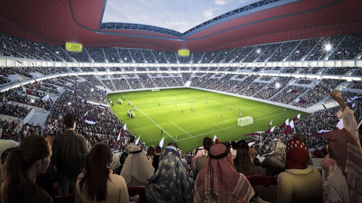 In this undated computer-generated artists impression provided by 2022 Supreme Committee for Delivery and Legacy, the Al Bayt Stadium, a Qatar 2022 World Cup venue to be buit in Al Khor, Qatar.