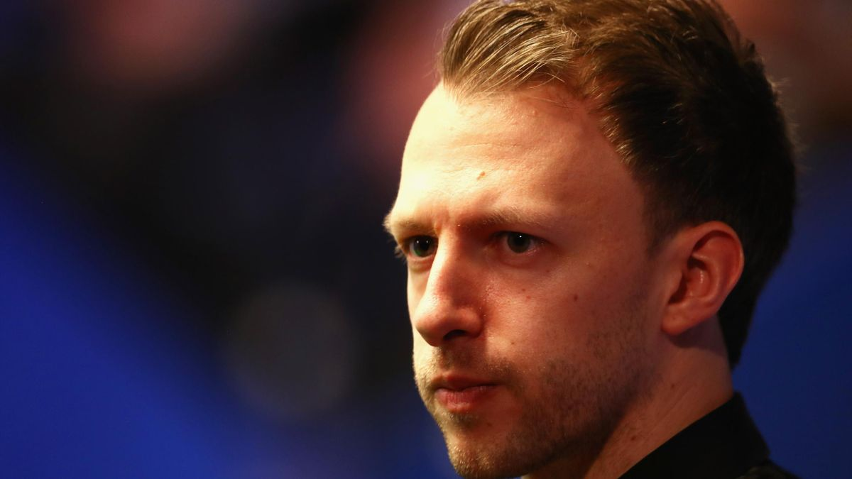 Judd Trump of England looks on during his first round match against Chris Wakelin of England during day five of the World Snooker Championship at Crucible Theatre on April 25, 2018 in Sheffield.
