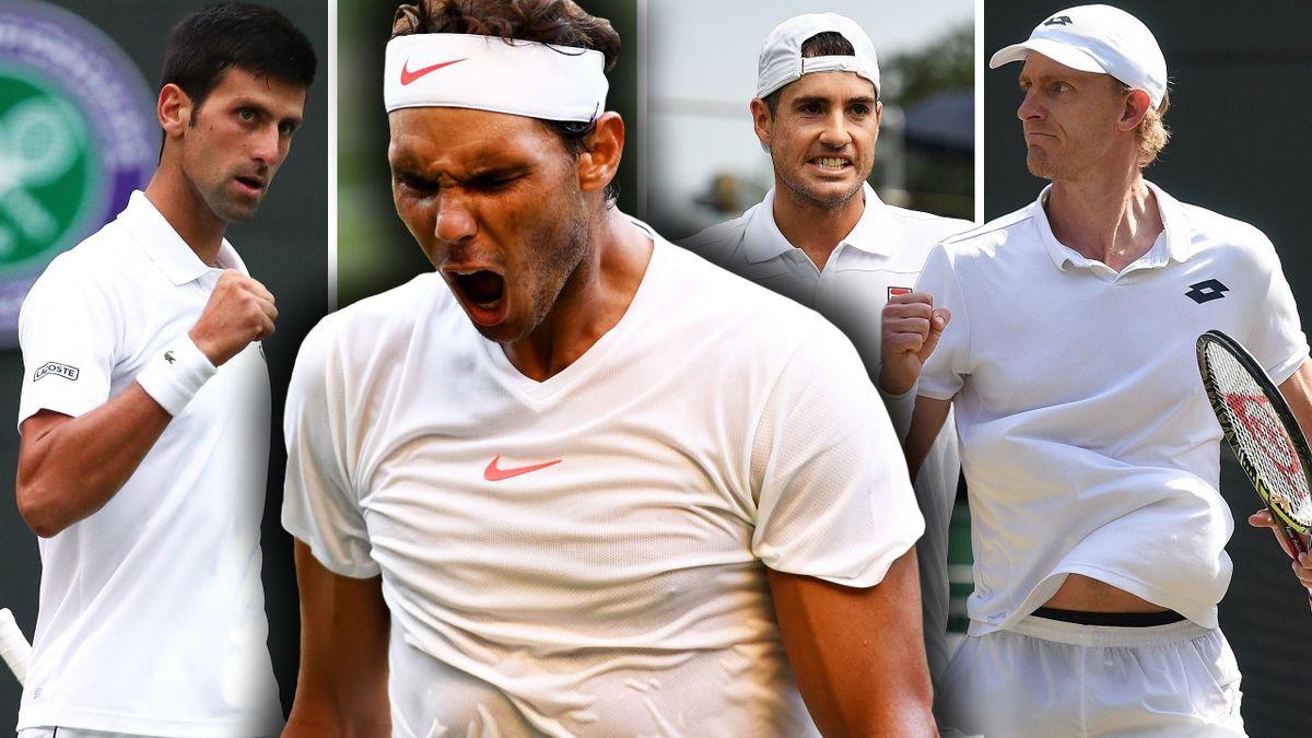 Novak Djokovic, Rafael Nadal, John Isner, Kevin Anderson
