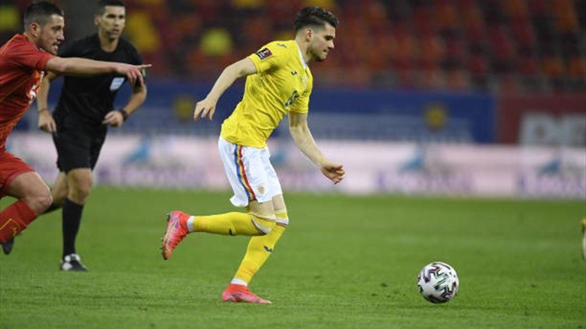 Ianis Hagi în acțiune în România-Macedonia de Nord 3-2