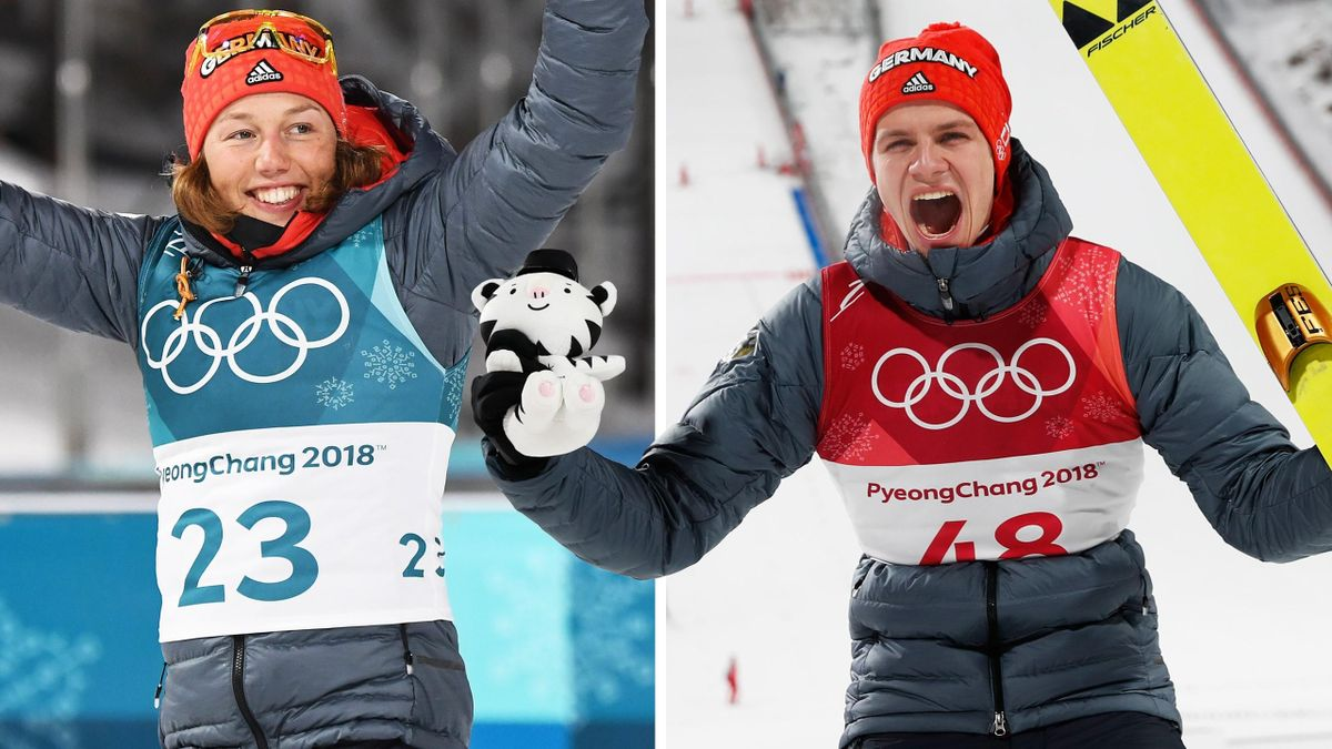 Olympia-Champions Dahlmeier und Wellinger