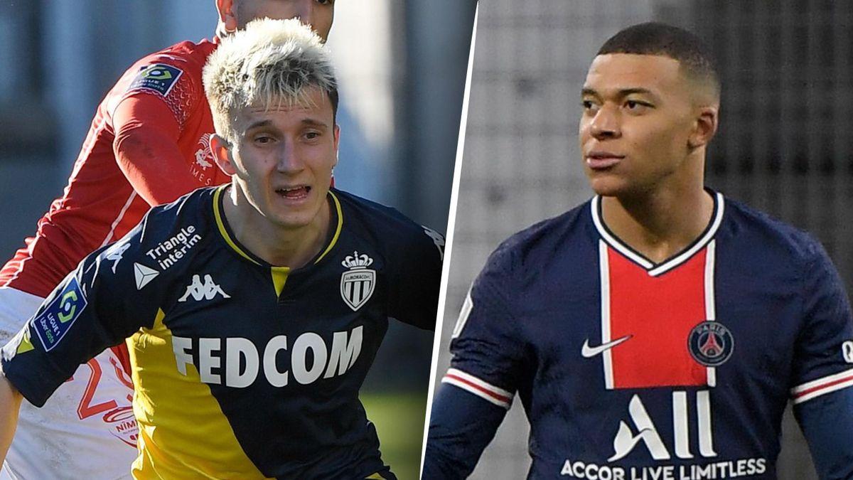 Aleksandr Golovin et Kylian Mbappé, deux candidats au titre de meilleur joueur de la 24e journée de Ligue 1.