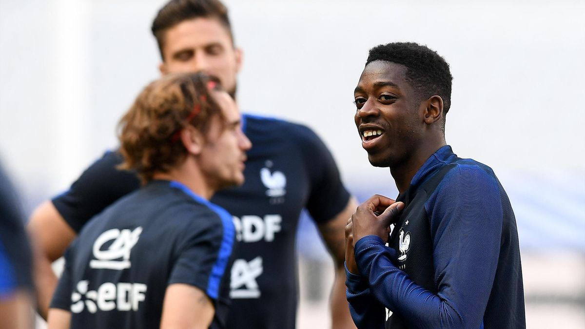 Ousmane Dembele, Antoine Griezmann și Olivier Giroud