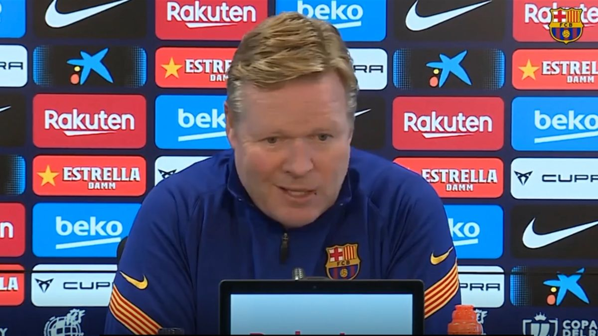 Ronald Koeman in conferenza stampa