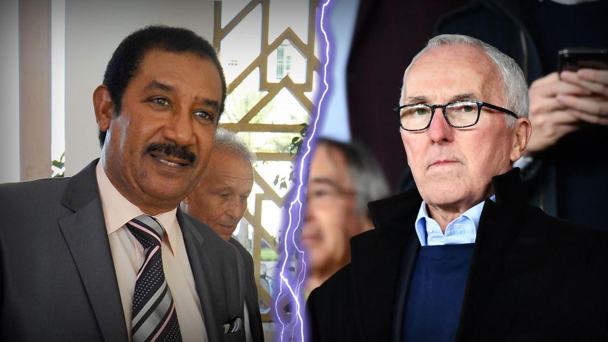 Mohamed Ayachi Ajroudi, candidat au rachat de l'OM, et Frank McCourt, actuel propriétaire du club phocéen.