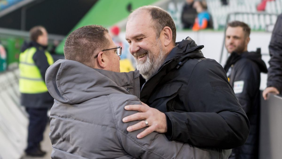 Jörg Schmadtke (r.) und Max Eberl (l.)