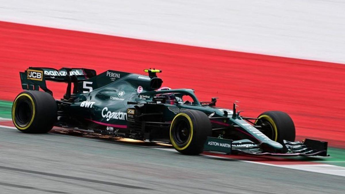 Sebastian Vettel (Aston Martin) au Grand Prix d'Autriche 2021