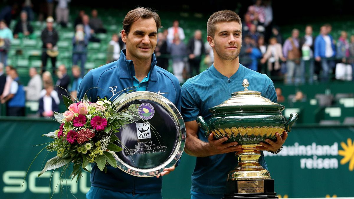 Roger Federer und Borna Coric