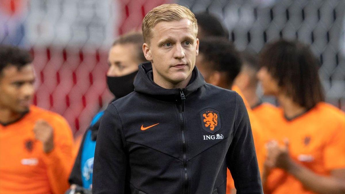 Donny van de Beek avec les Pays-Bas