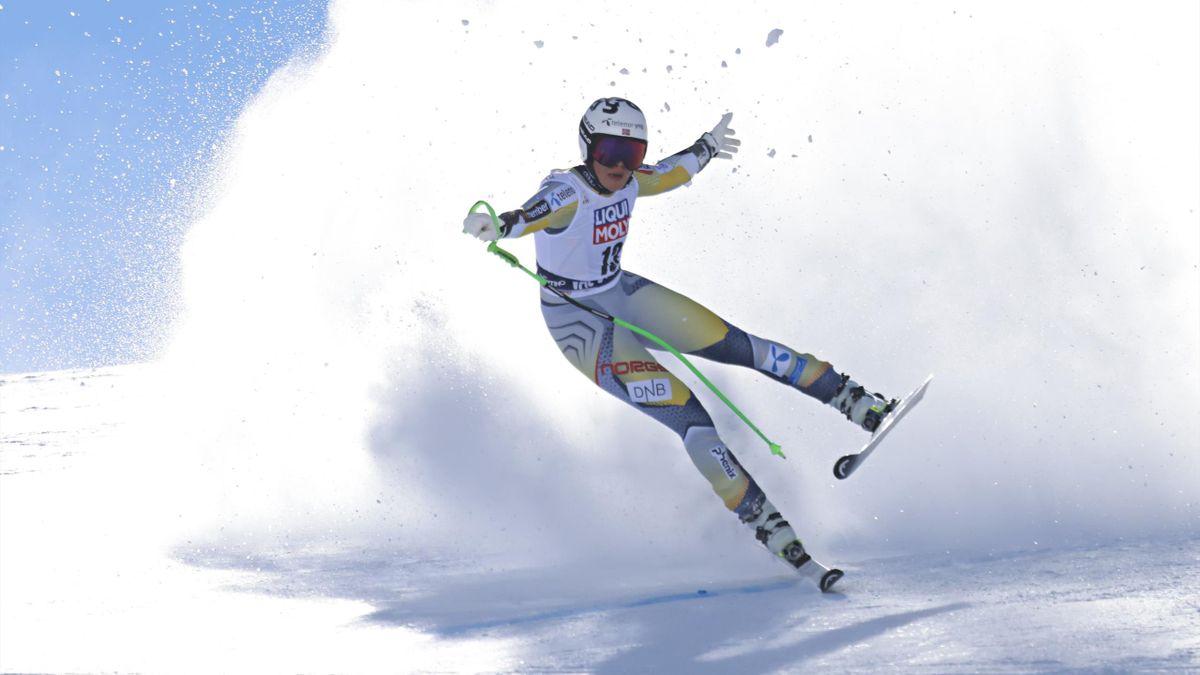 Kajsa Vickhoff Lie beim Super-G in Val di Fassa