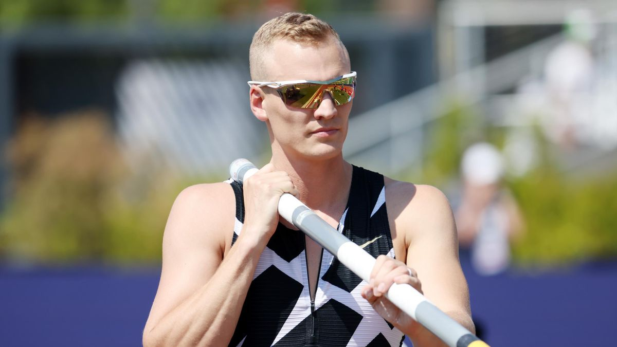 Sam Kendricks at  the 2020 U.S. Olympic Track & Field Team Trials at Hayward Field, Eugene, Oregon, June 21, 2021