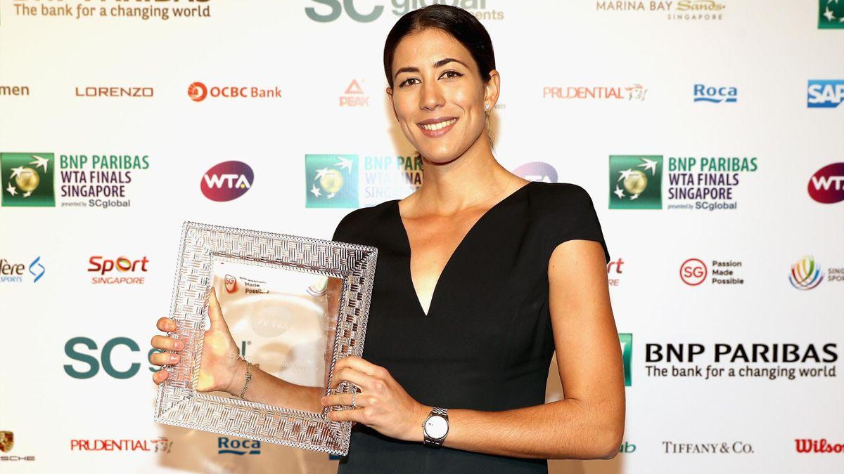Garbine Muguruza wins WTA player of the year