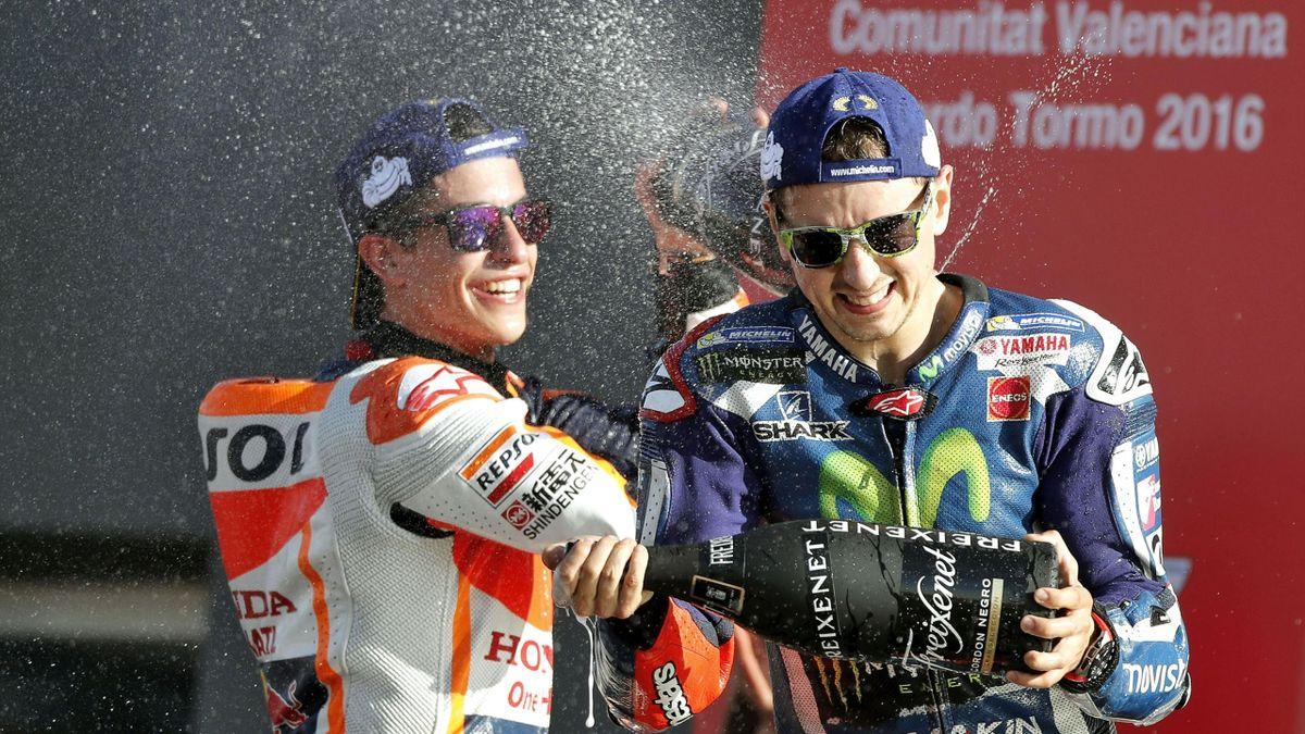 Marc Márquez y Jorge Lorenzo, GP de Valencia