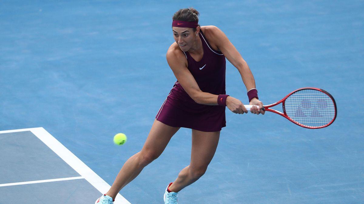 Caroline Garcia au tournoi d'Hobart