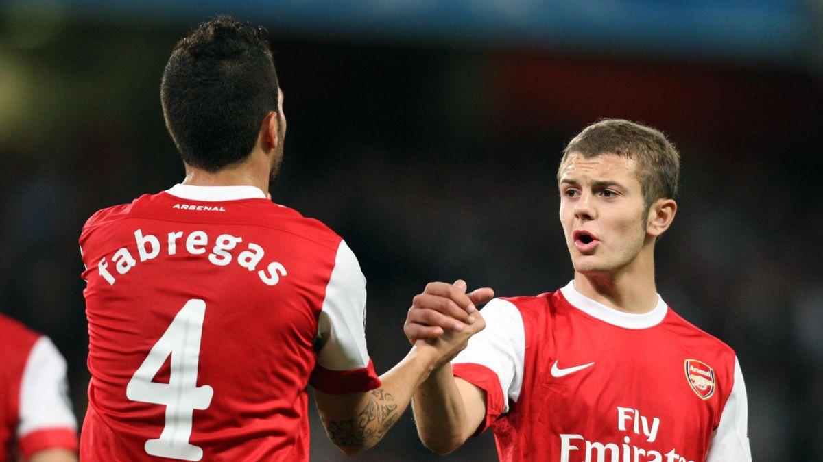 Cesc Fabregas (L) and Jack Wilshere (R)