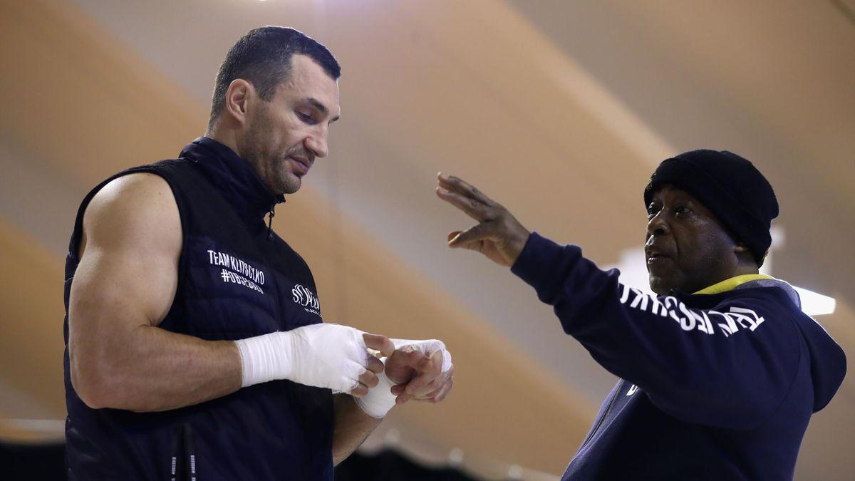 James Ali Bashir (r.) mit Wladimir Klitschko