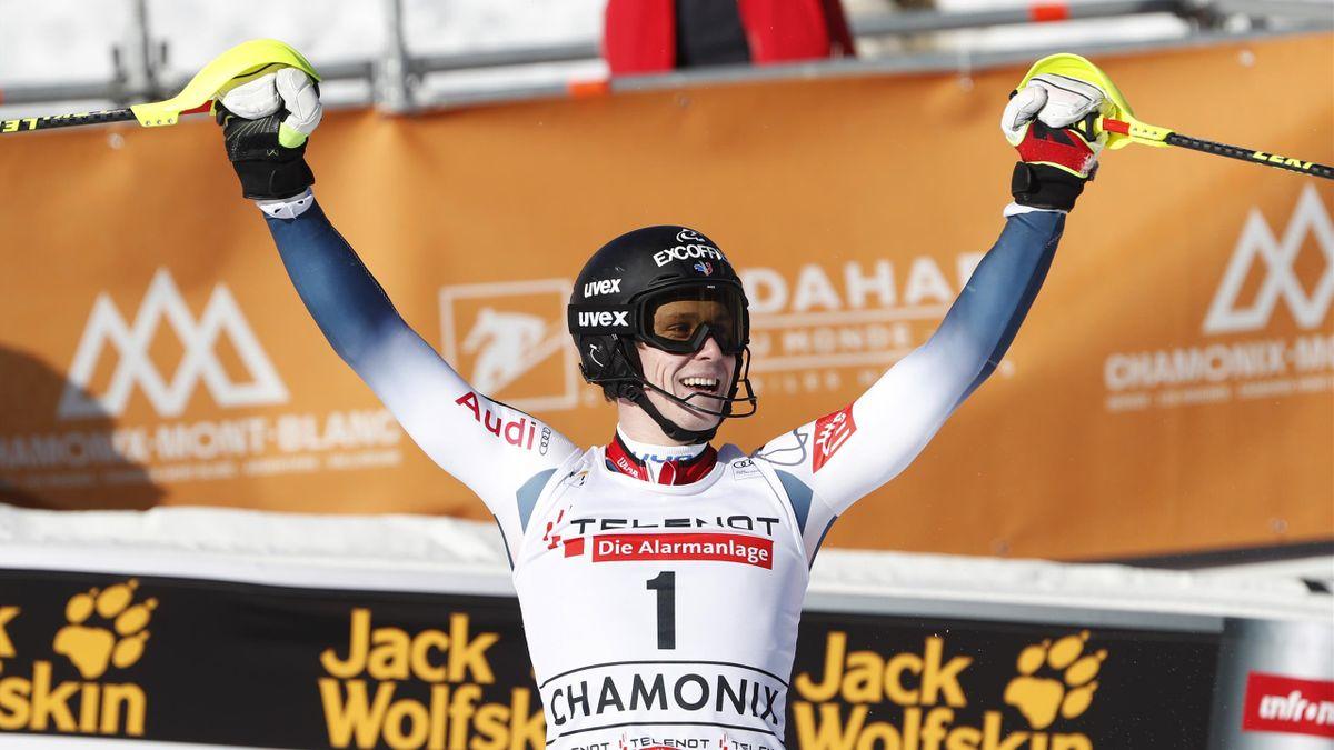 Clément Noël vainqueur du slalom à Chamonix le 8 février 2020
