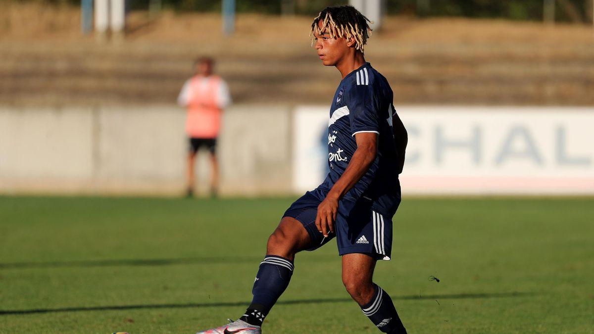 Sekou Mara avec les Girondins de Bordeaux lors d'un match amical