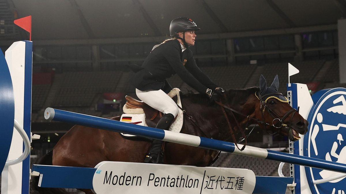 Annika Schleu auf Saint Boy bei Olympia in Tokio 2021