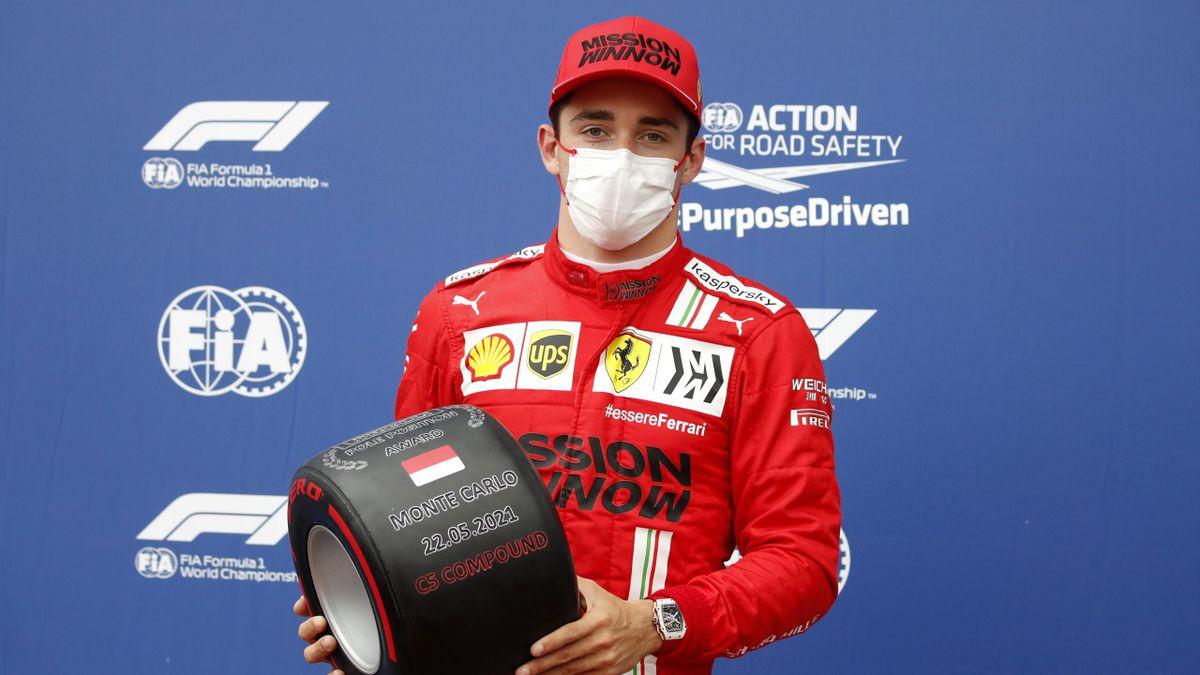 Charles Leclerc si gode l'ottava pole position in carriera, la prima a Montecarlo, Getty Images