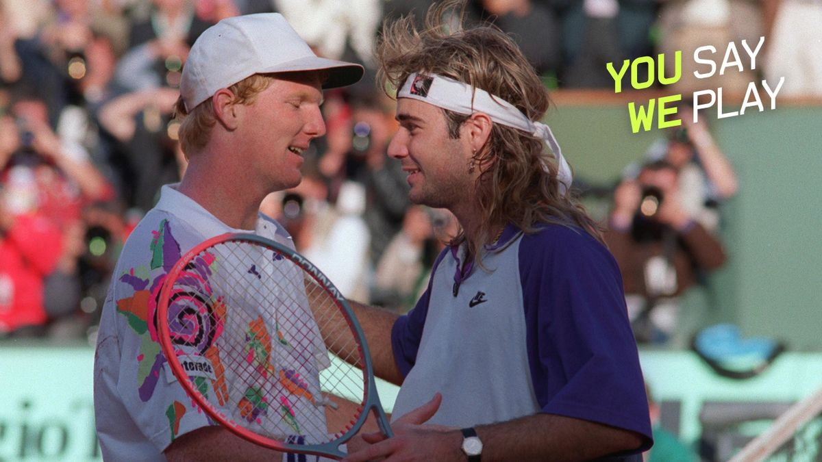 Jim Courier and Andre Agassi - You Say We Play