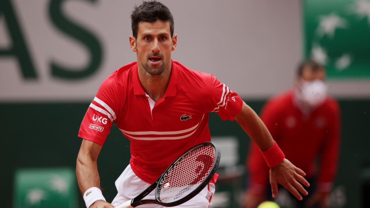 Novak Djokovic bei den French Open in Paris